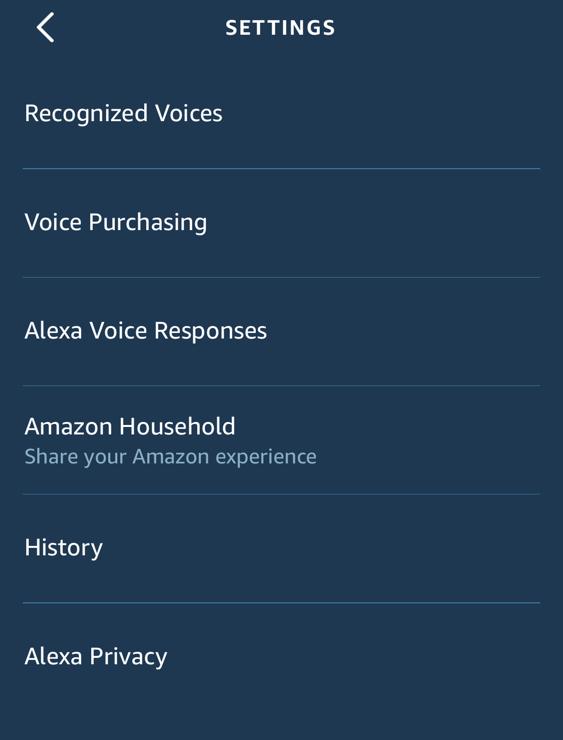 amazon echo alexa app - iphone - alexa account purchases buying privacy