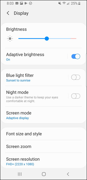 android - font style size settings preferences adjust bigger