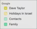 remove google calendars from ical apple calendar