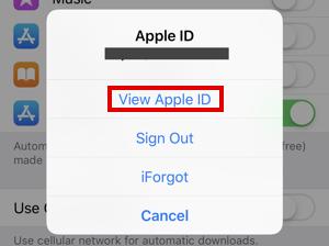 iphone ios12 view apple id
