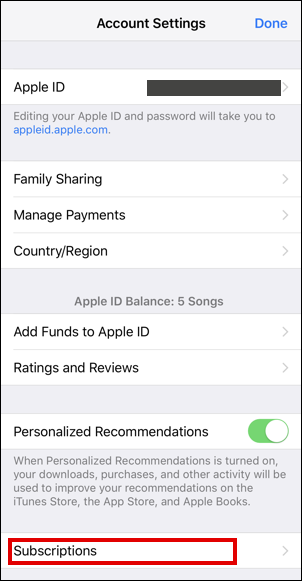 ios iphone - view apple id details info settings preferences