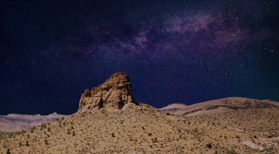landscape photo edit - night sky added