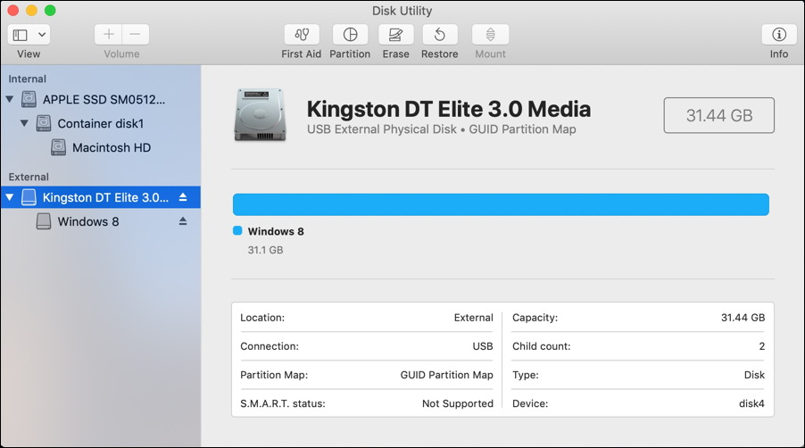 macos x - disk utility