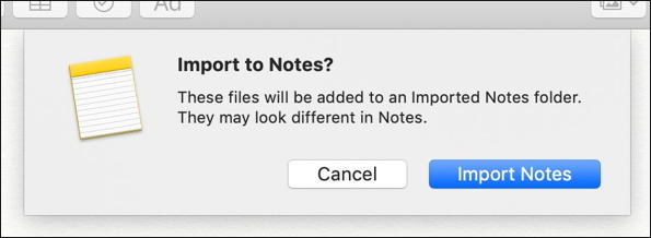 mac - import to notes - from stickies