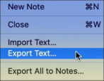 export archive save mac stickies notes