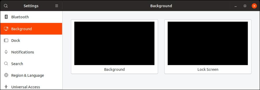 ubuntu linux - desktop settings - no wallpapers