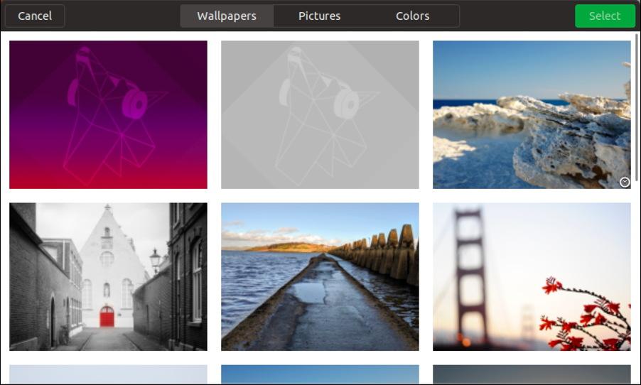 choice of wallpaper images, ubuntu linux