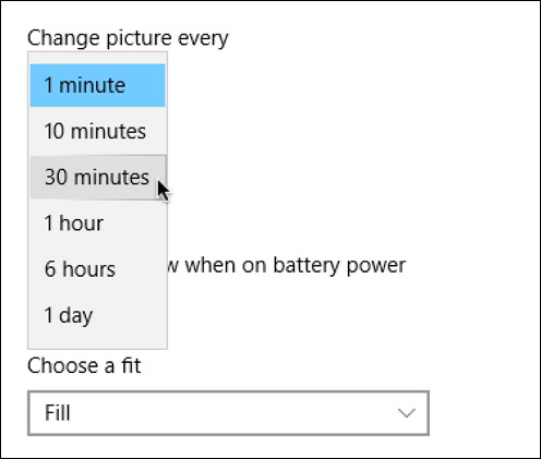 win10 change picture desktop wallpaper every minutes