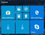 tablet mode start screen menu - windows 10