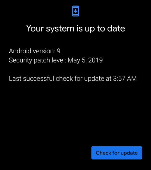 android - system is up to date - but it's not