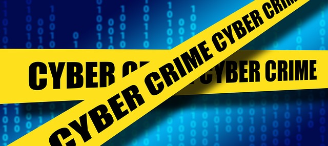cyber crime crossed tape