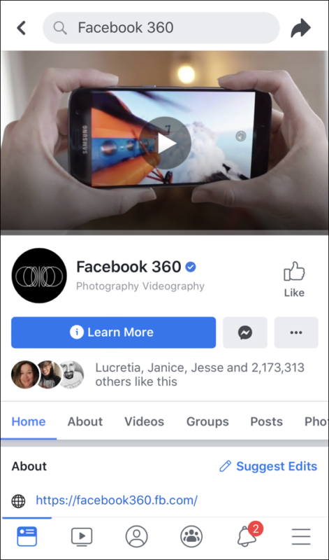 facebook 360 group like page