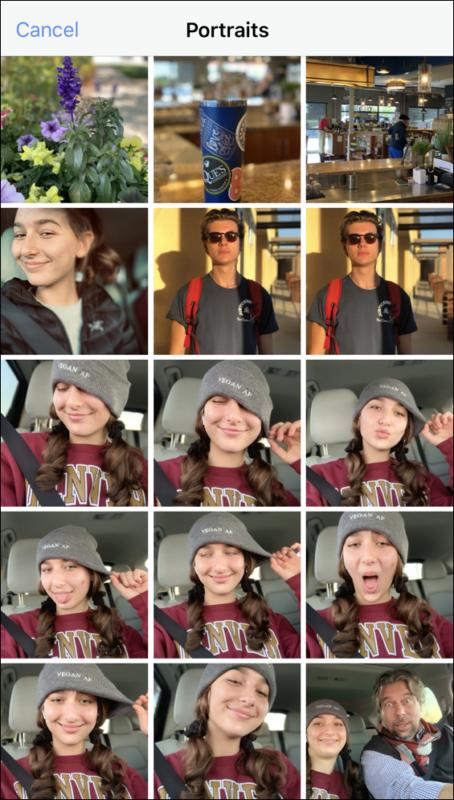 iphone portrait photo gallery