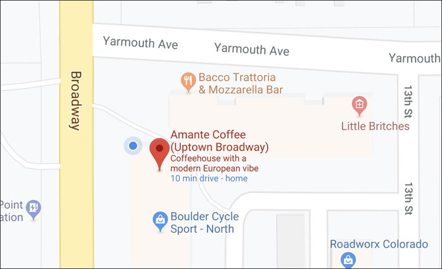 google maps - boulder co - identify lat long
