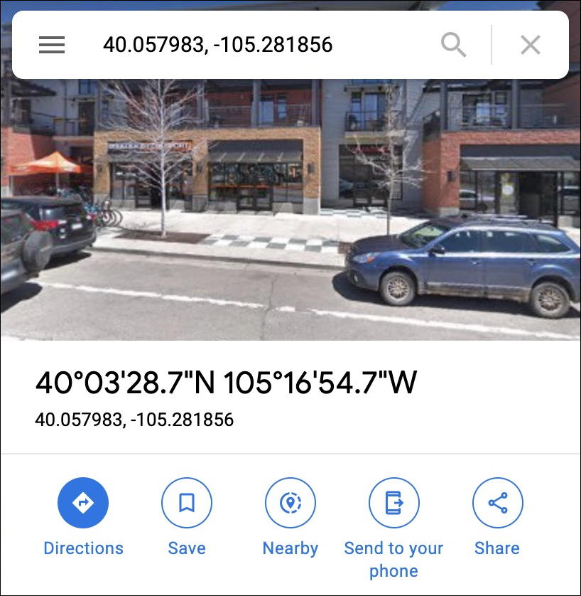 google maps - latitude longitude figured out solved search find