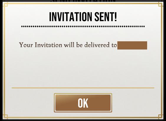 harry potter wizards unite - invitation friend sent