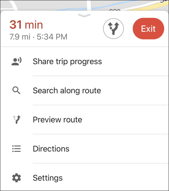 how to share driving progress - google maps iphone