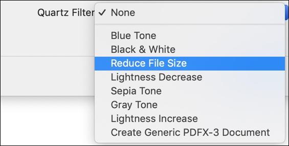 mac quartz filter options save pdf