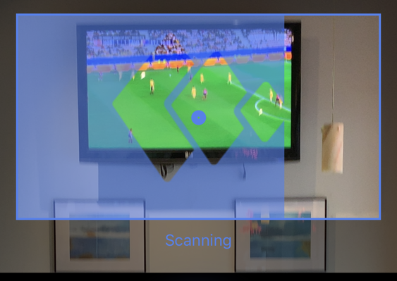 tunity scanning tv screen