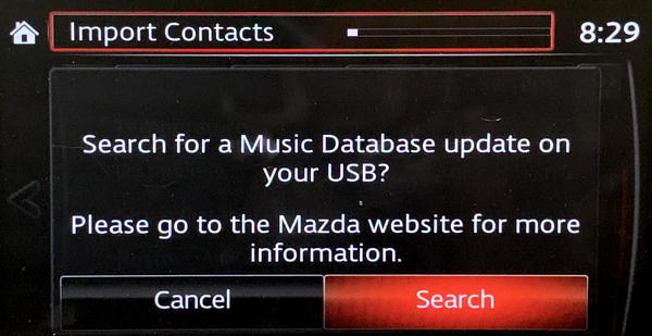 mazda infotainment - update music database