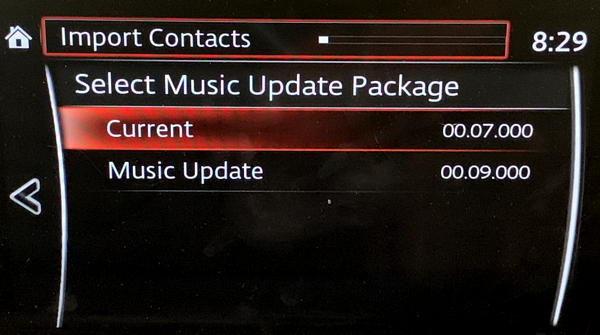 mazda infotainment gracenote db update versions found