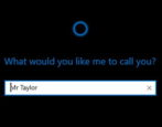 windows 10 cortana - change name called me