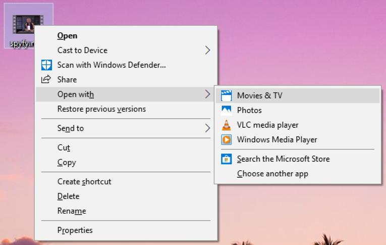 win10 context menu right click
