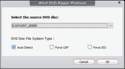 winxdvd ripper - choose disk dcd