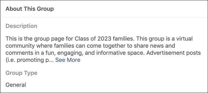 cu boulder parents - facebook group - description