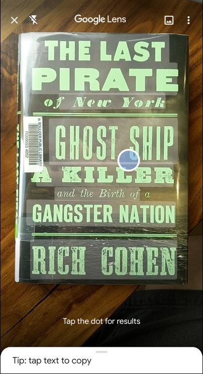 google lens identify id book cover