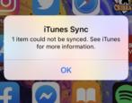 fix itunes can't sync item error iphone ipad mac