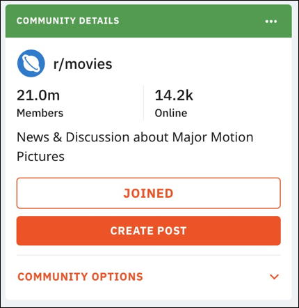 info about r/movies on reddit