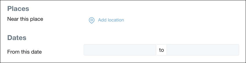 advanced twitter search - date and location