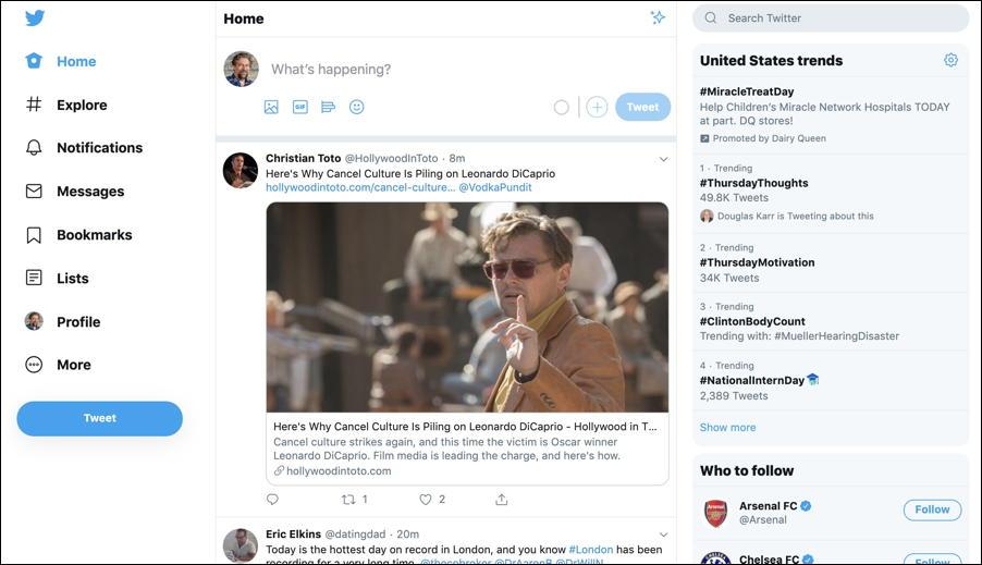 new twitter user interface web