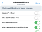 twitter tweet advanced filters junk spam hate harassment