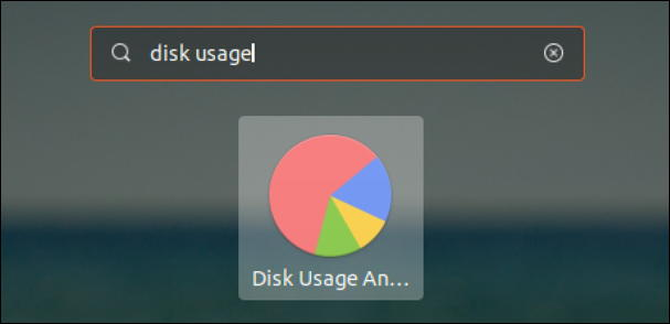 ubuntu linux search for disk usage app