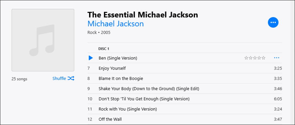 the essential michael jackson - in itunes windows - missing artwork album cover