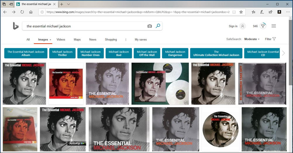 bing image search - essential michael jackson