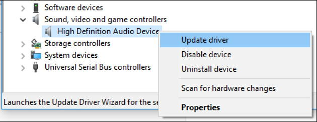 force update win10 device driver