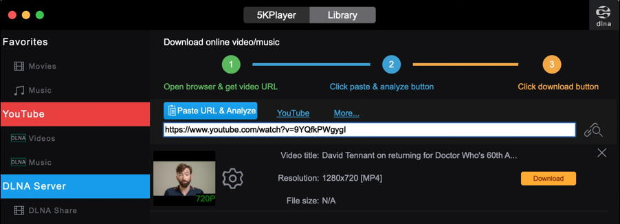 5kplayer download youtube video