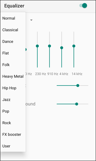 spotify android equalizer eq presets defaults
