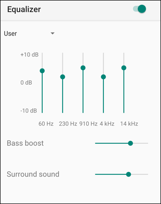 spotify eq equalizer settings custom preferences settings android