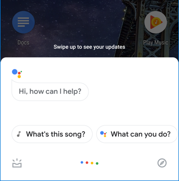 google assistant - android - small input window