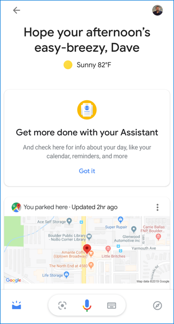 android google assistant full screen