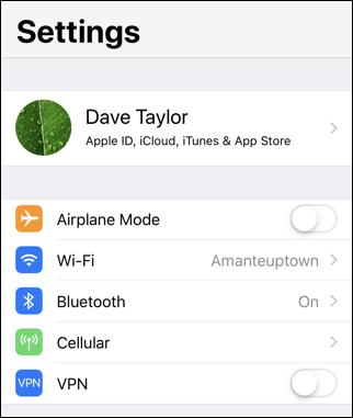 iphone ios12 - wifi network name