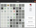 minesweeper for linux - gnome mines kmines - ubuntu