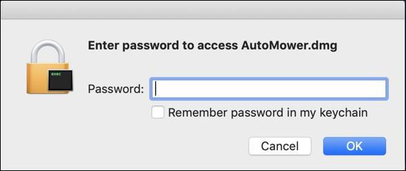 enter password - encrypted folder virtual disk - mac macos x