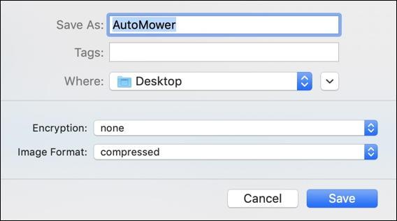 name new folder virtual disk - disk utility - macos x