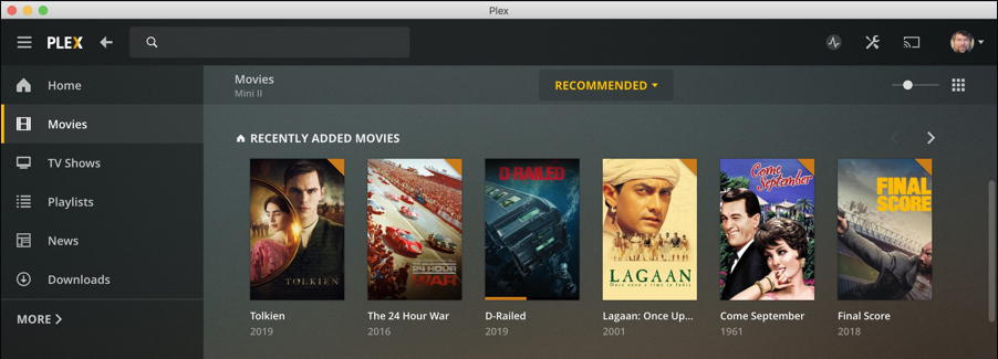 plex mac client - latest movies