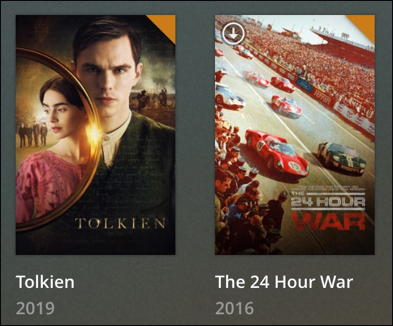 plex movie downloaded